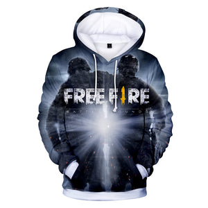 Free Fire Hoodies - Free Fire Game Series Hero Soldier Battle Royale 3D Hoodie