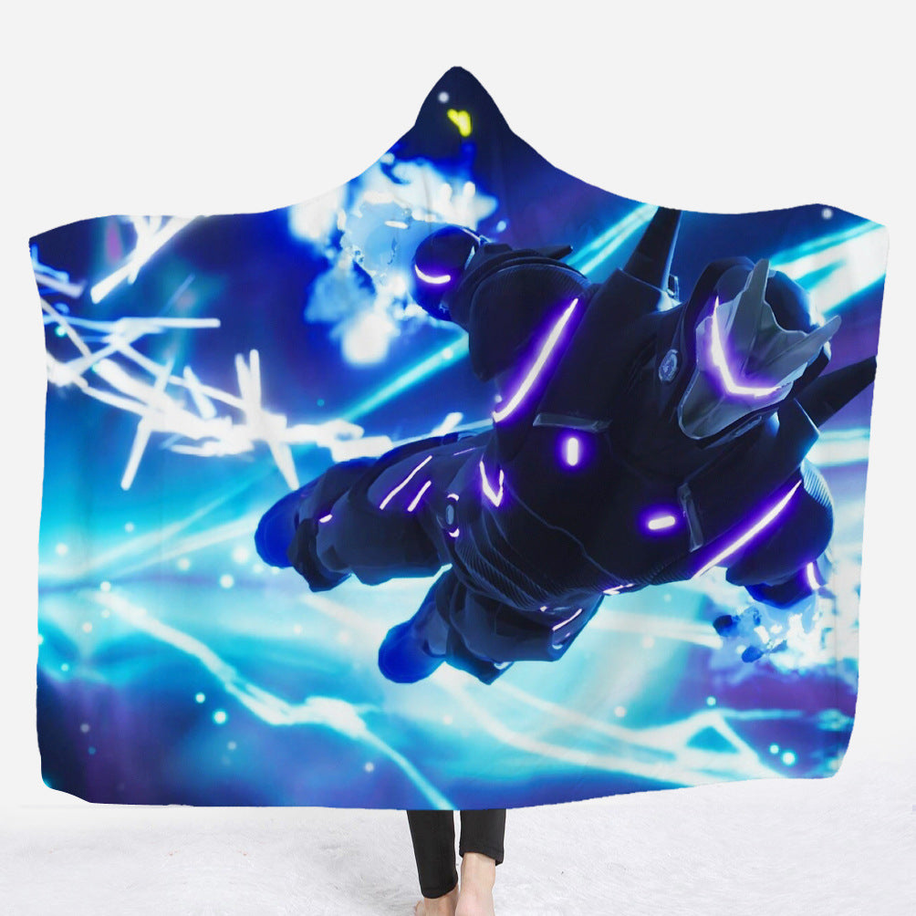 Fortnite Hooded Blankets - Fortnite Omega Parachute Fleece Hooded Blanket