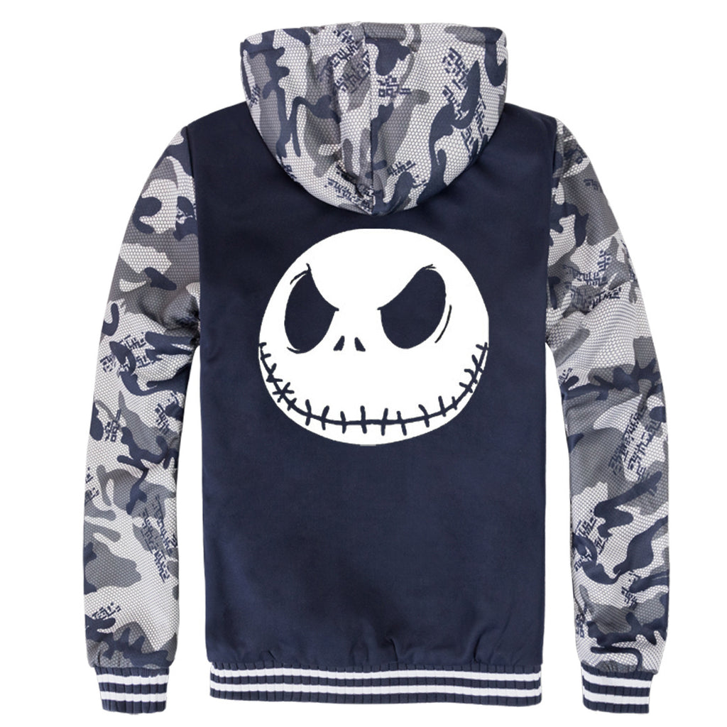 Nightmare Before Christmas Jackets - Nightmare Before Christmas Movie Series Jack Icon White Fleece Jacket