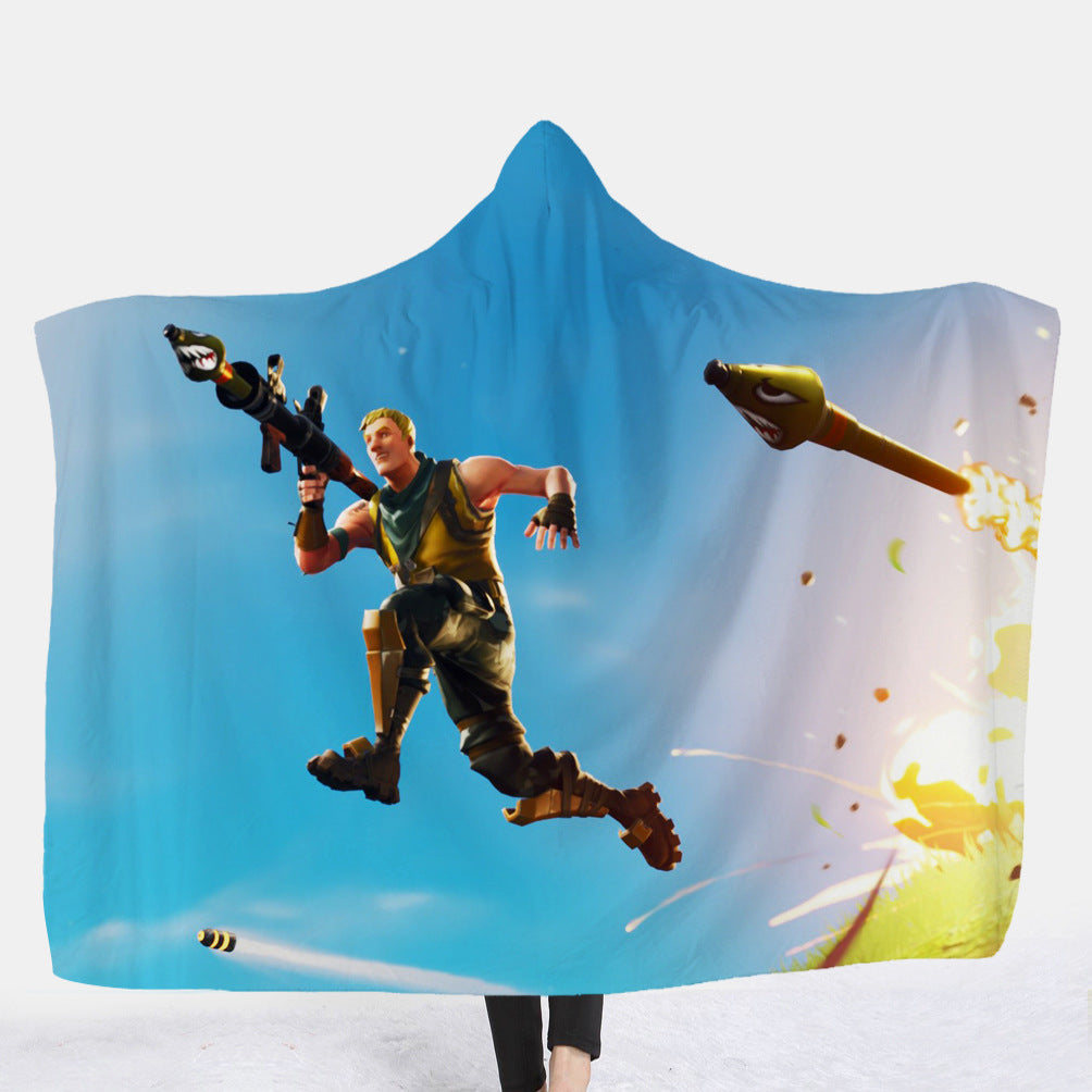 Fortnite Hooded Blankets - Fortnite Super Soldier Fleece Hooded Blanket