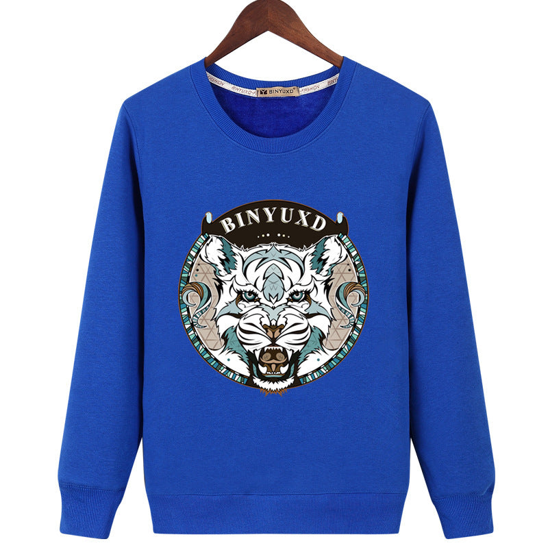 Harajuku Style Sweatshirts - Solid Color Harajuku Style Series BINYUXD Tiger Icon Fashion Fleece Sweatshirt