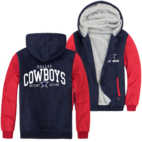 Image of Cowboys Jackets - Solid Color Cowboys Jacket Series Cowboys Rugby Training Fleece Jacket