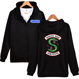 Riverdale Hoodies - Riverdale Double-Headed Snake Logo Icon Zip Up Hoodie