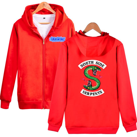Image of Riverdale Hoodies - Riverdale Double-Headed Snake Logo Icon Zip Up Hoodie