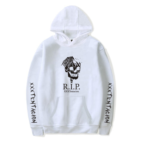 Image of XXXTentacion Hoodies - Solid Color Popular Rapper XXXTentacion RIP Icon Hoodie
