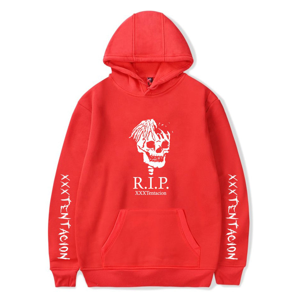 XXXTentacion Hoodies - Solid Color Popular Rapper XXXTentacion RIP Icon Hoodie
