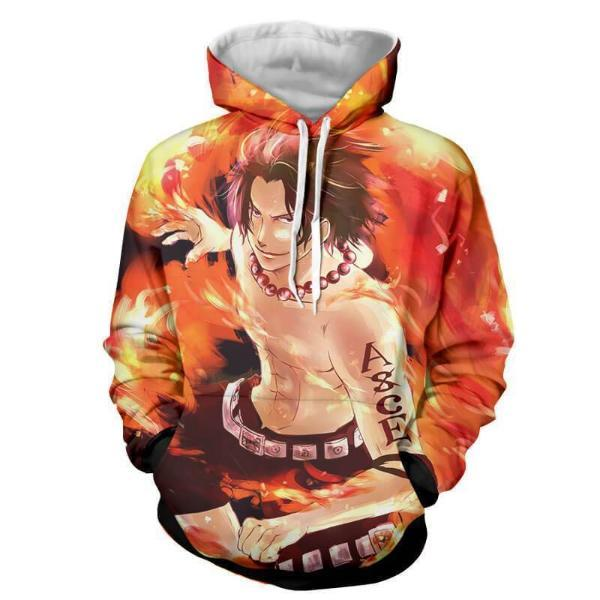 Ace Fire Storm 3D Printed Hoodie One Piece