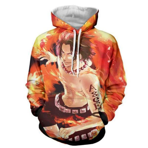 Image of Ace Fire Storm 3D Printed Hoodie One Piece
