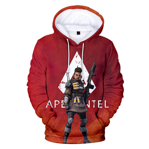 Apex Legends Hoodies - Apex Legends Game Series Bangalore Soldier Red 3D Hoodie