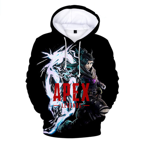 Apex Legends Hoodies - Apex Legends Game Series Wraith Soldier Black 3D Hoodie