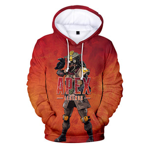 Apex Legends Hoodies - Apex Legends Game Series Bloodhound Soldier Red 3D Hoodie