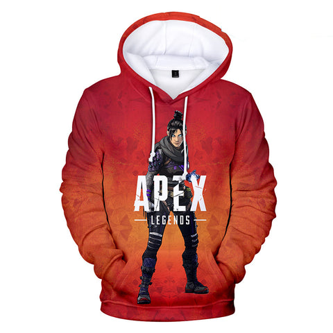 Apex Legends Hoodies - Apex Legends Game Series Hero Wraith Red 3D Hoodie