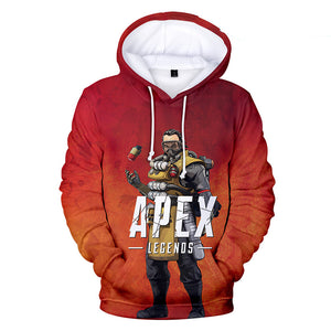 Apex Legends Hoodies - Apex Legends Game Series Caustic Battle Royale Red 3D Hoodie