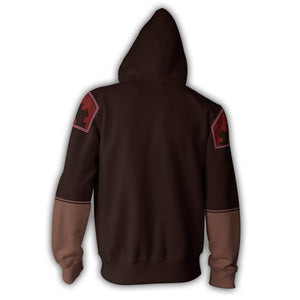 Avatar: The Last Airbender Asami Hoodies - Zip Up Hoodie