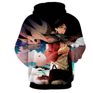 Attack On Titan 3D Hoodie Levi Ackerman