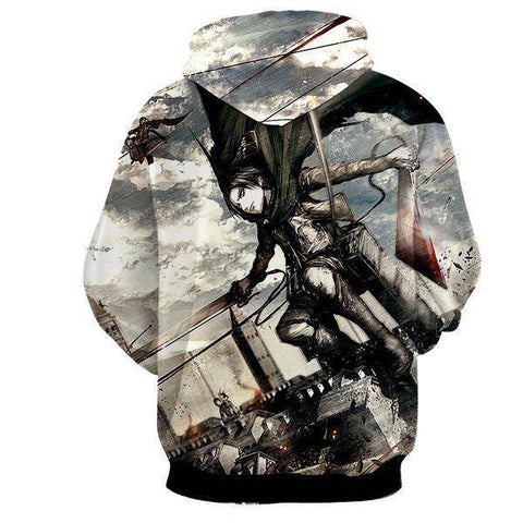 Image of Attack On Titan 3D Levi Ackerman Hoodie