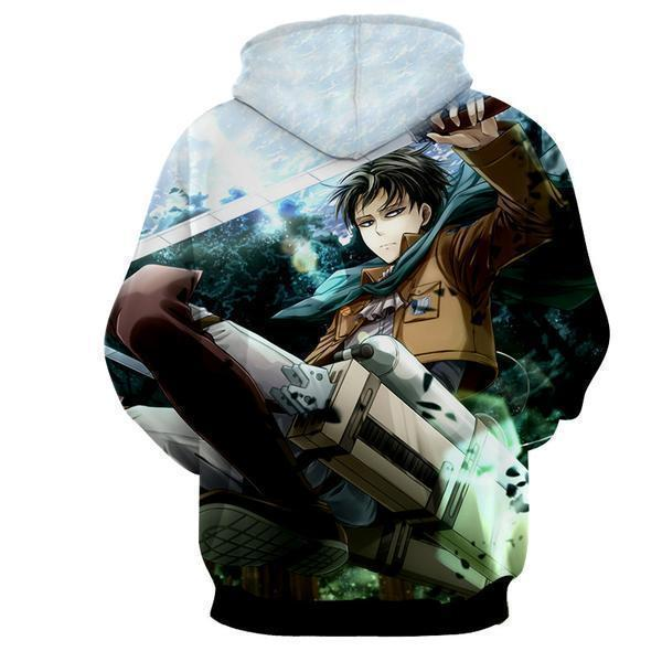 Attack On Titan Levi Ackerman 3D Printed Hoodie