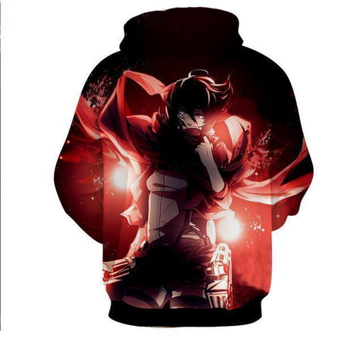 Image of Attack On Titan Hoodies Mikasa Ackermann Hoodie
