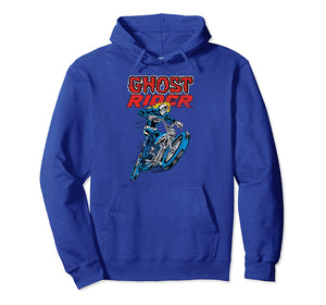 Ghost Rider Retro Flames Graphic Hoodie
