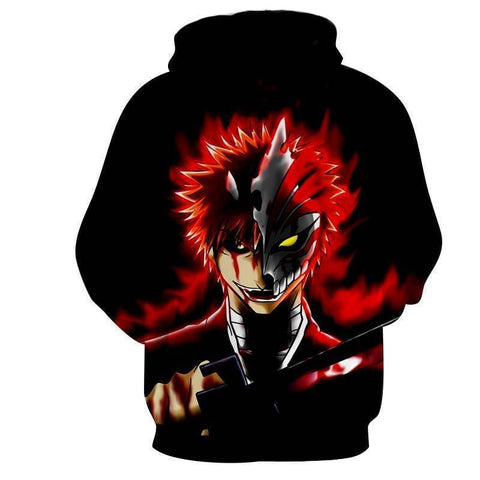 Image of Bleach Ichigo Hoodies - Pullover Devil Hoodie