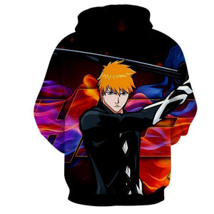Classic Black Ichigo Bleach 3d Printed Bleach Hoodie
