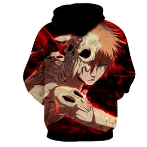 Hollow Ichigo Bleach 3d Printed Bleach Hoodie