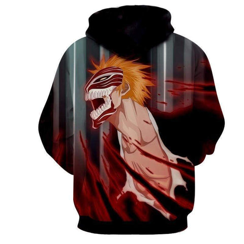 Bleach Ichigo Hoodies - Hollow Mask Hoodie