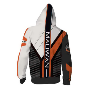 Borderlands Maliwan V2 Hoodies - Zip Up Hoodie Jacket