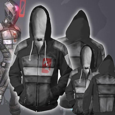 Image of Borderlands Hoodies - Borderlands Zero Zip Up Hoodie Jacket