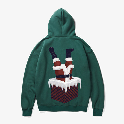 Image of Christmas Hoodies - Super Funny Happy Naughty Santa Claus Icon 3D Fleece Hoodie