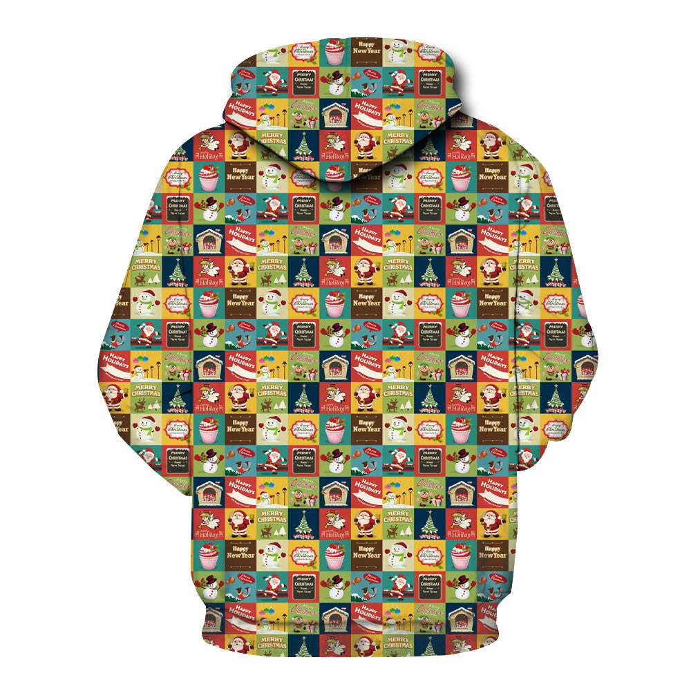 Christmas Hoodies - Cartoon Character Pattern 3D Hoodie