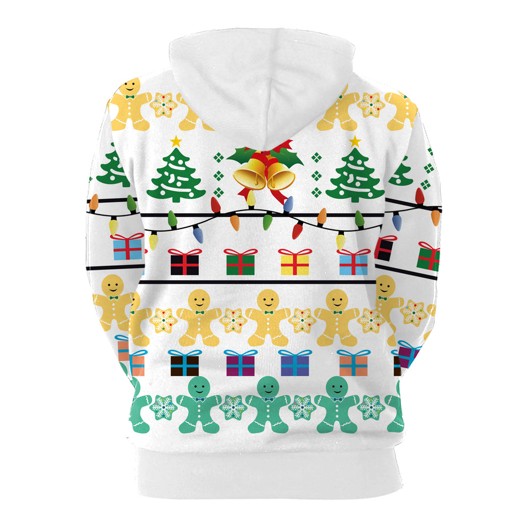 Christmas Hoodies - Cartoon Paper Man 3D Hoodie