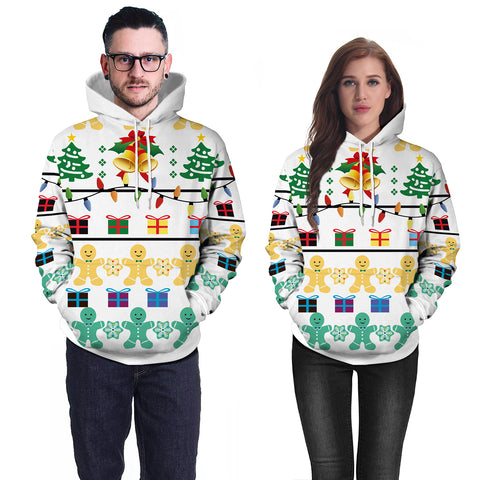 Image of Christmas Hoodies - Cartoon Paper Man 3D Hoodie