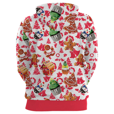 Image of Christmas Hoodies - Christmas Cake 3D Print Hoodie