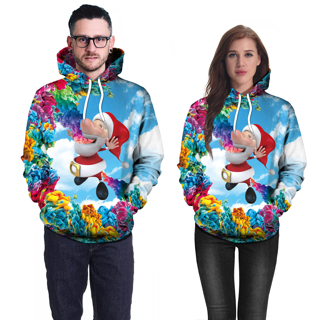 Christmas Hoodies - Cute Santa Multi-Color 3D Hoodie