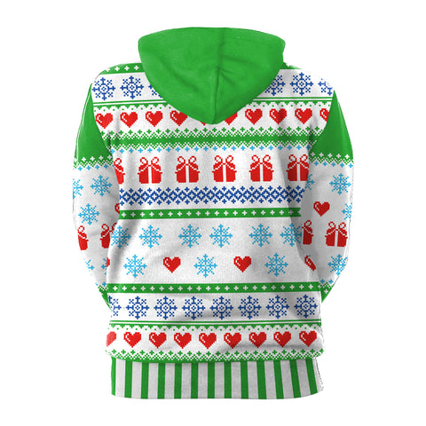 Image of Christmas Hoodies - Christmas Snowflake 3D Hoodie