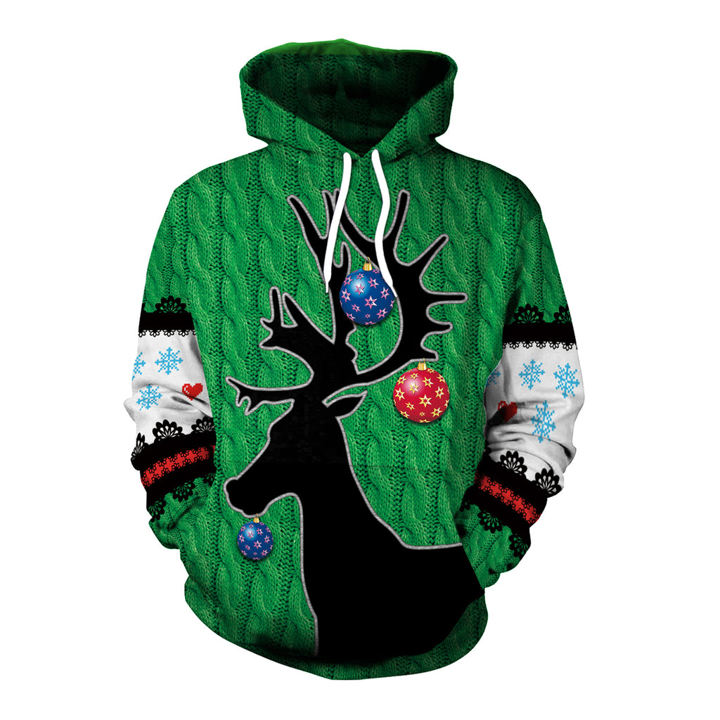 Christmas Hoodies - Christmas Style Christmas Deer 3D Hoodie