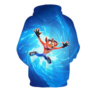 Crash Bandicoot Hoodie Sweatshirt Hooded Pullover