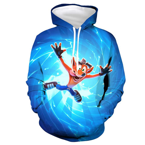 Image of Crash Bandicoot Hoodie Sweatshirt Hooded Pullover