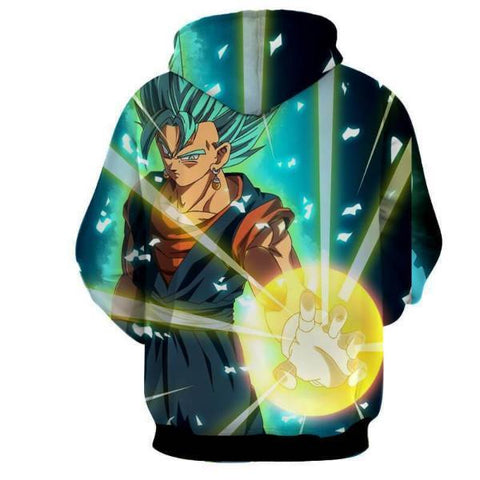 Dragon Ball Super Vegito SSj Blue 3D Hoodie