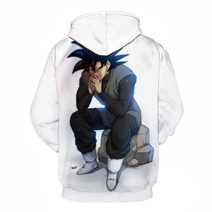 Dragon Ball Super Z- Goku Black Plotting 3D Hoodie