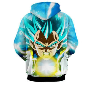 Dragon Ball Super Z- Vegeta SSJ Blue God Hoodie