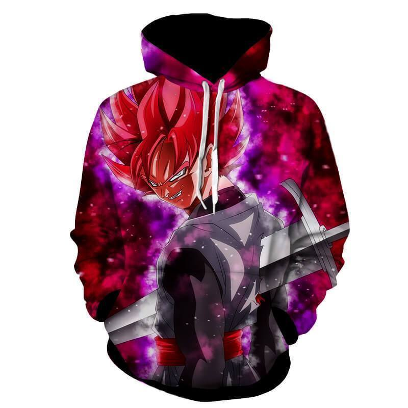Dragon Ball Z- Evil Black Goku SSJ Rose Hoodie