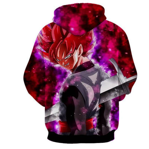 Image of Dragon Ball Z- Evil Black Goku SSJ Rose Hoodie