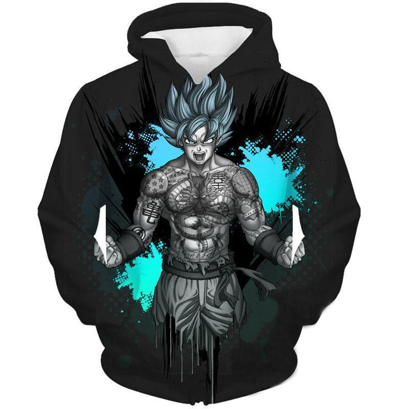 Dragon Ball Z- SSj Goku Tatto 3D Hoodie