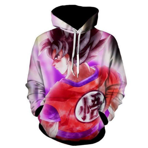 Image of Dragon Ball Z- Goku Silver Eyes 3D Hoodie