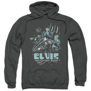 Elvis Presley Hoodies: 68 LEATHER Pull-Over Hoodie