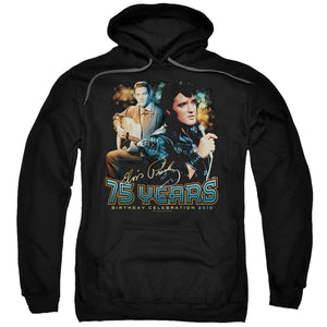 Elvis Presley Hoodies: 75 YEARS Pull-Over Hoodie