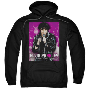 Elvis Presley Hoodies: 35 LEATHER Pull-Over Hoodie