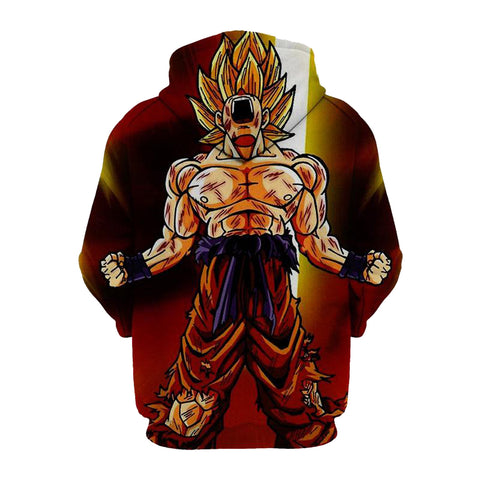 Image of Dragon Ball Z Son Goku 3D Printed Hoodie